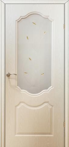 Дверь AIRON Канадка Анастасия, цвет беленый дуб, остекленная