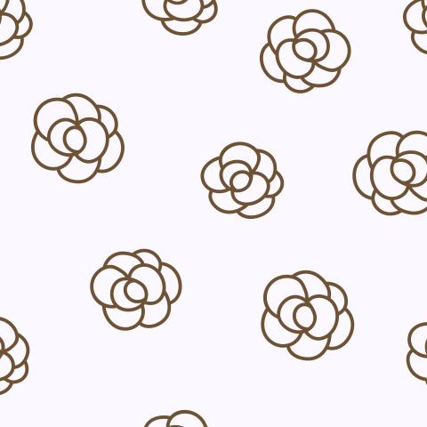 Милый простой паттерн с цветами из линий