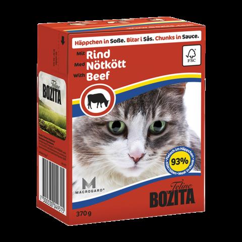 Bozita Консервы для кошек с говядиной (кусочки в соусе)