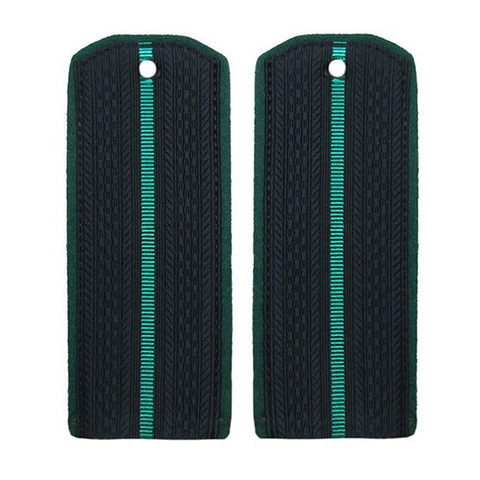 Погоны ПС ФСБ на китель иссиня-черные с 1 зеленым просветом