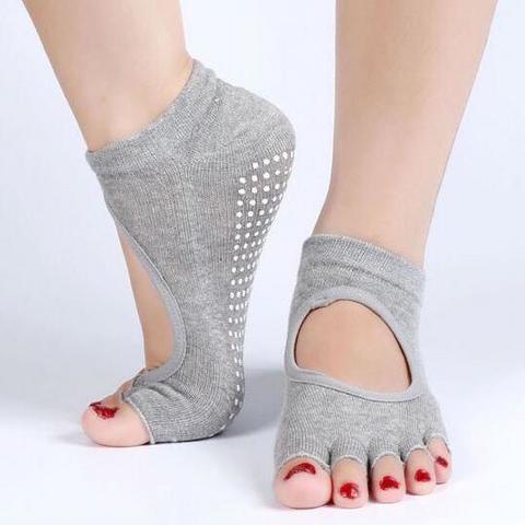 Нескользящие носки (35-39 р.) - С вырезами, для йоги, батута, спорта