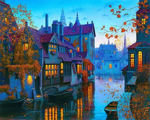 Картина раскраска по номерам 50x65 Вечерняя Венеция