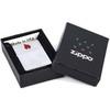 Зажигалка Zippo Red Flame с покрытием Brushed Chrome, латунь/сталь, серебристая, матовая