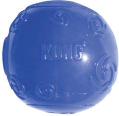 Игрушка для собак KONG Squeezz Мячик очень большой резиновый с пищалкой 9 см