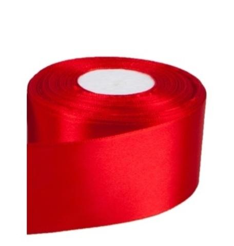 Лента атласная (размер: 50мм х 30м) Цвет:красная