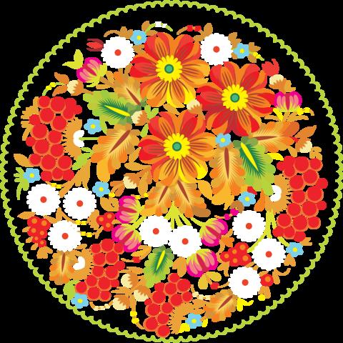 Печать на сахарной бумаге, Цветы 4