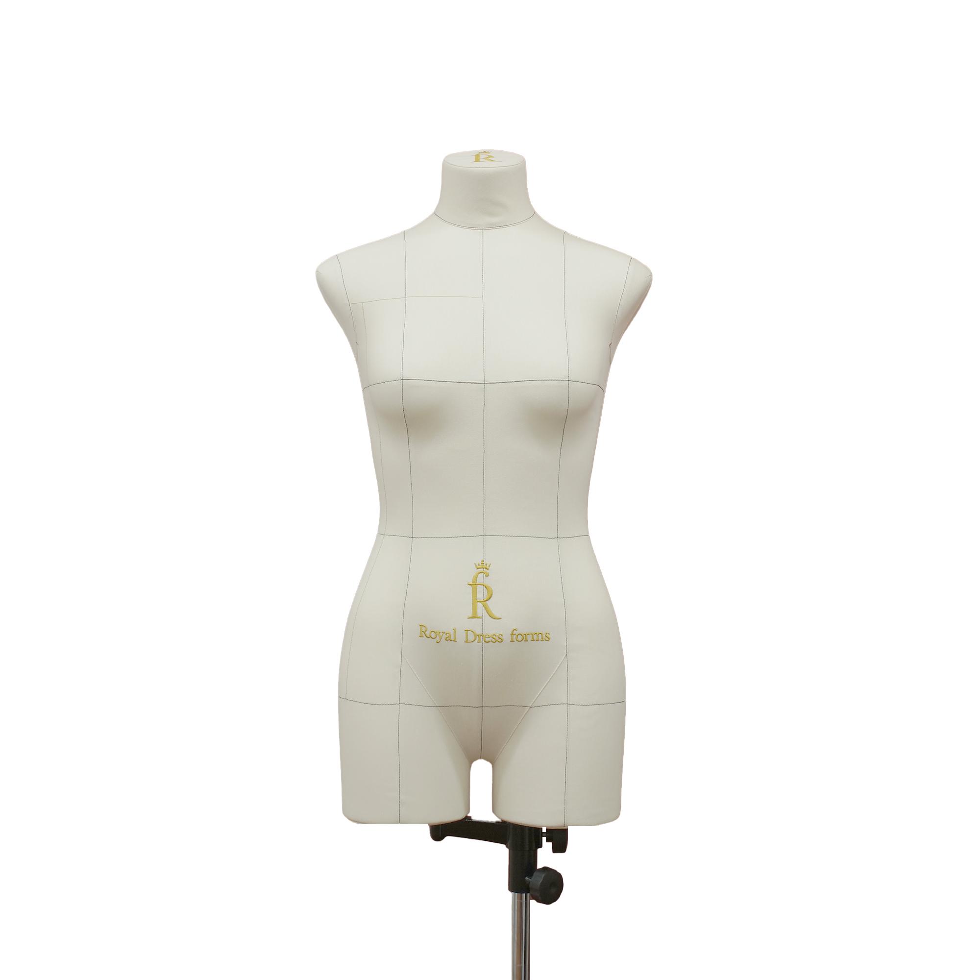 Манекен портновский Моника, комплект Премиум, размер 44, тип фигуры Прямоугольник, бежевый