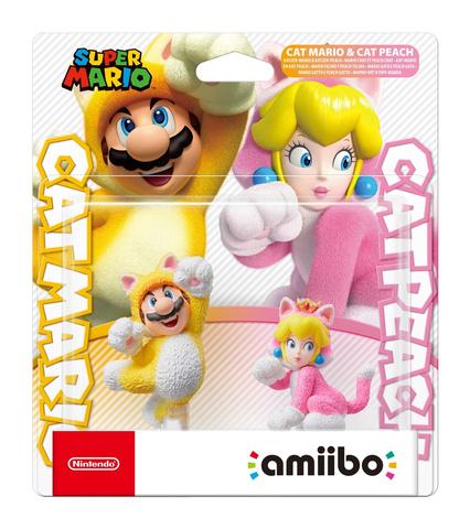 Фигурка Amiibo: Cat Mario and Cat Peach