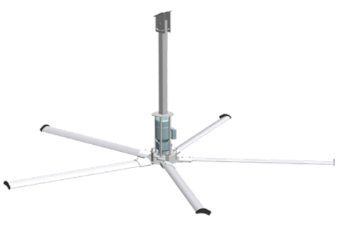 3 метра, 5 лопастей | Вентилятор потолочный для коровников