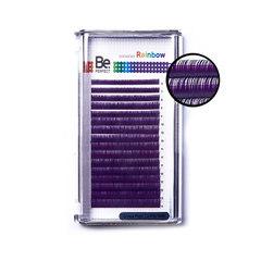 Цветные ресницы Be Perfect Rainbow Purple MIX (16 линий)