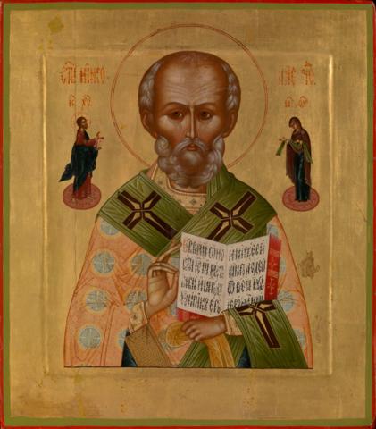 Икона святого Николая Чудотворца на дереве на левкасе мастерская Иконный Дом