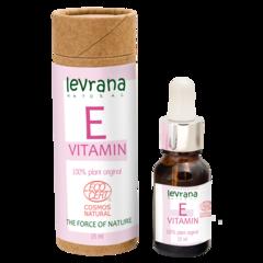 Levrana, Сыворотка для лица Vitamin E, растительный, чистый антиоксидант, 15мл