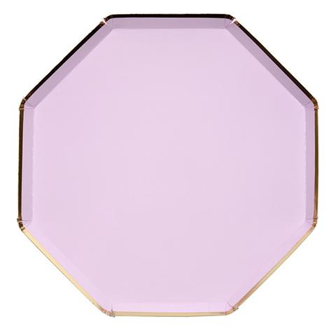 Тарелки фиолетовые