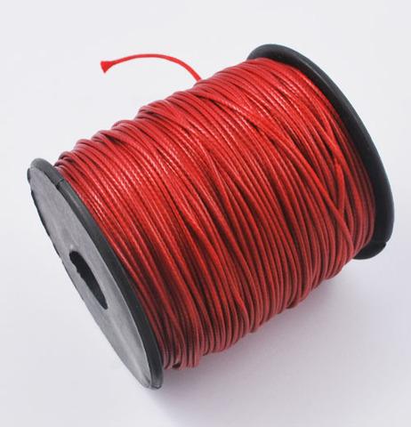 Шнур нейлон вощеный 1.0 мм красный на катушке 85 метров