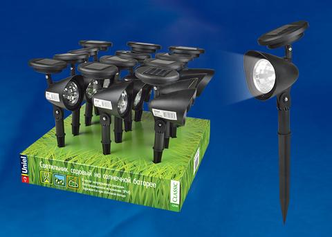 USL-C-691/PT270 FLASH SET12 Садовый светильник на солнечной батарее, в составе набора из 12шт. Белый свет. 1*AA Ni-Cd аккумулятор в/к. IP44. TM Uniel.