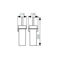 Держатель для туалетной щетки (ершик) настенный KAISER Franco BL KH-2726 схема