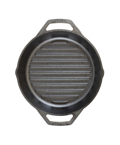 Сковорода чугунная круглая  с двумя ручками, артикул L8GPL