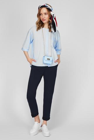 Женская голубая рубашка CRISP POPLIN RELAXED Tommy Hilfiger