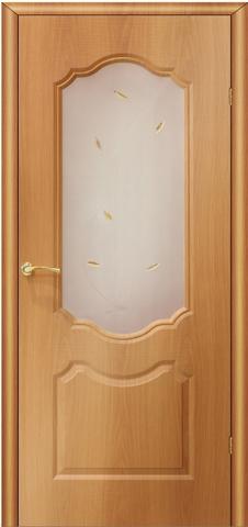 Дверь AIRON Канадка Анастасия, цвет миланский орех, остекленная