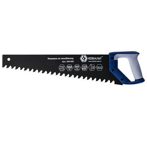 Ножовка по пенобетону КОБАЛЬТ 500 мм, 1 TPI, тефлоновое покрытие твердосплавные напайки на зубья, двухкомпонентная рукоятка