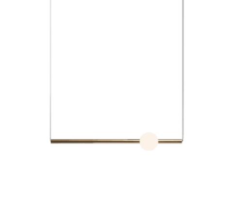 Подвесной светильник копия ORION GLOBE by Lee Broom H60 (горизонтальный, золотой)