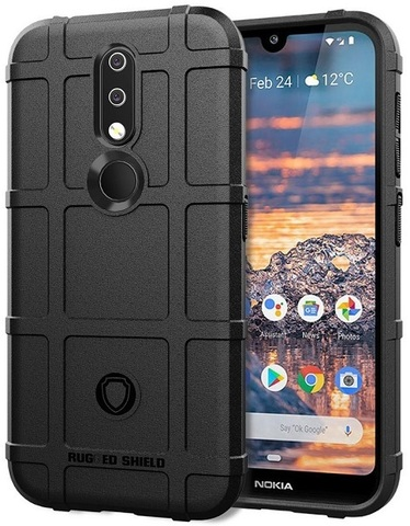 Чехол на Nokia 4.2 цвет Black (черный), серия Armor от Caseport