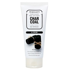 JIGOTT Очищающая угольная маска-пленка Char Coal Pure Clean Peel Off Pack