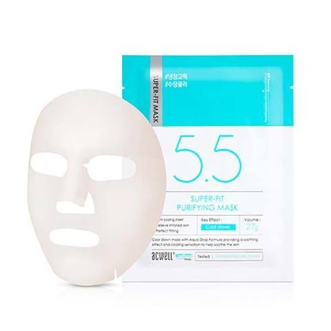 Охлаждающая Увлажняющая Тканевая Маска ACWELL Super-Fit Purifying Mask