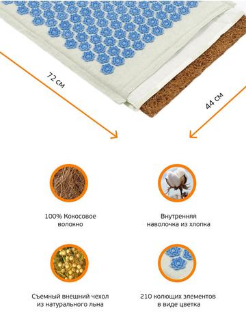 Набор массажный акупунктурный с лотосами Comfortex (голубой)
