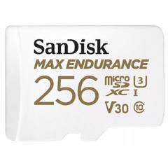 Карта памяти microSDXC 256GB SanDisk Class 10 UHS-I U3 V30 Max Endurance Video Monitoring (SD адаптер)