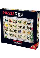 Puzzle Kelebekler. Butterfly Stamps 500 pcs