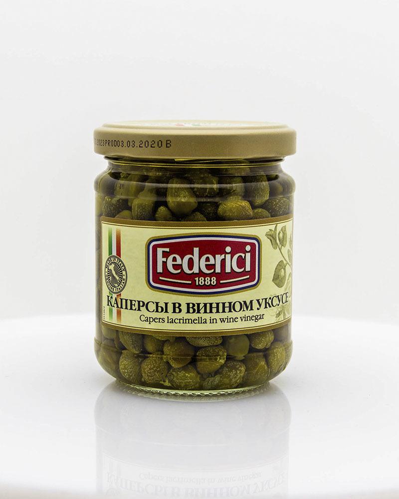 Каперсы Federici в Винном Уксусе 210 гр.