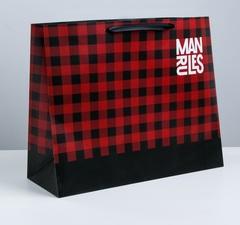 Пакет ламинированный Man rules, XL 49 × 40 × 19 см, 1 шт.