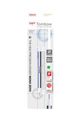 Ластик-ручка Tombow MONO Zero Eraser, ластик-ручка с круглым ластиком, бело-сине-черный в блистере
