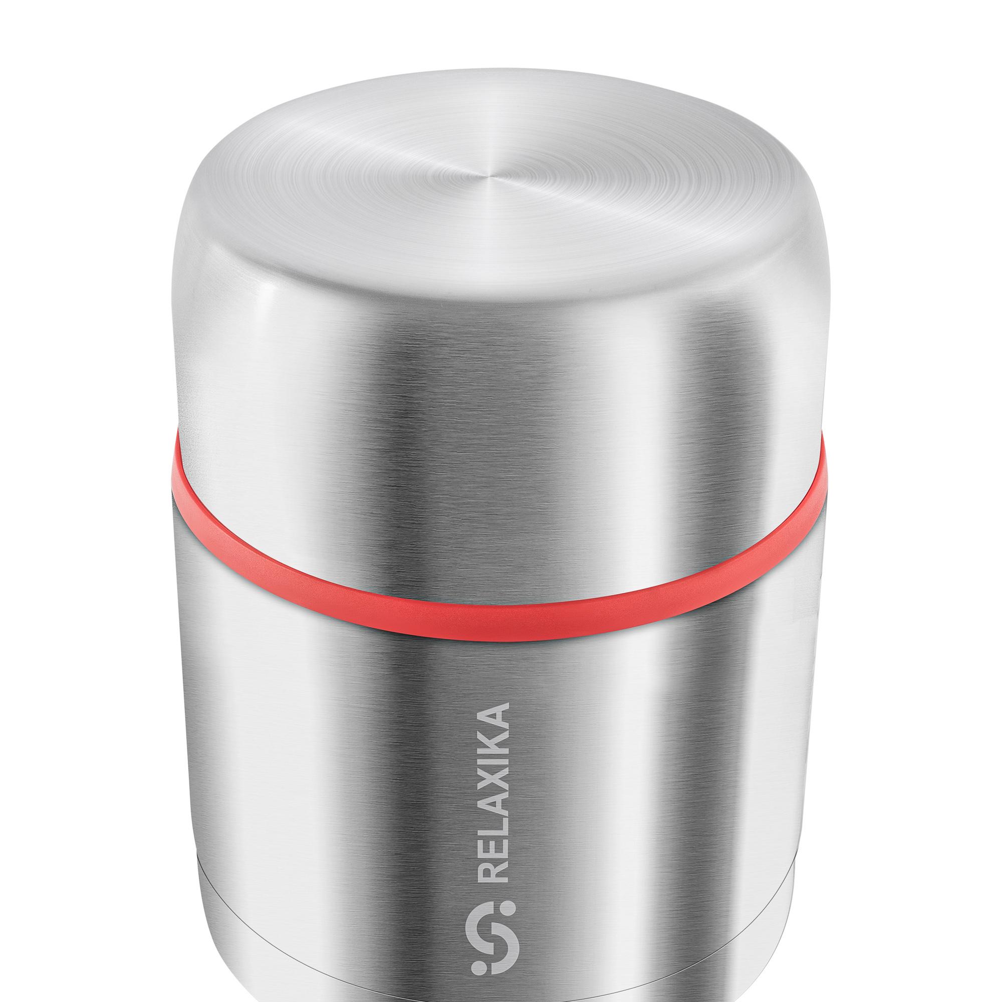 Термос для еды Relaxika 301 (0,5 литра) в чехле, стальной