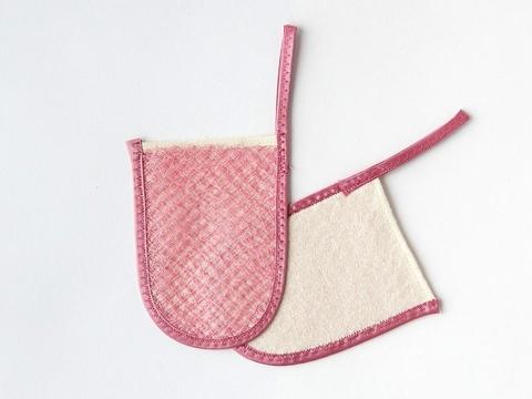 Шелковица, Пилинг-варежка для лица-мини, розовая