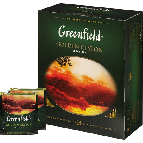Чай Greenfield Golden Ceylon черный 100 пакетиков