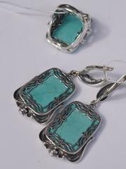 Дафина (кольцо + серьги из серебра)