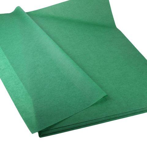 Бумага Тишью темно-зеленая 50*65 см, 10 листов