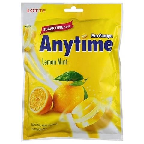 Леденцы Lotte AnyTime Lemon mint 74 гр