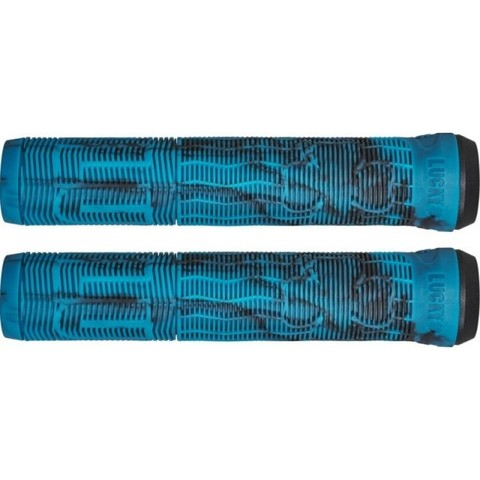 Грипсы Lucky Vice 2.0 Pro Scooter Grips (Black/Teal Swirl)