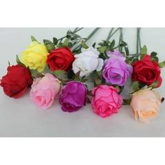 Роза искусственная одиночная на стебельке, 50 см.