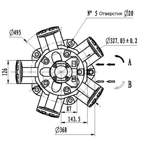 Гидромотор IMB 100-1600