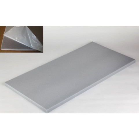 негорючая  акустическая панель ECHOTON FIREPROOF 100x50x3cm  из материала  BASOTECT серый с адгезивным слоем