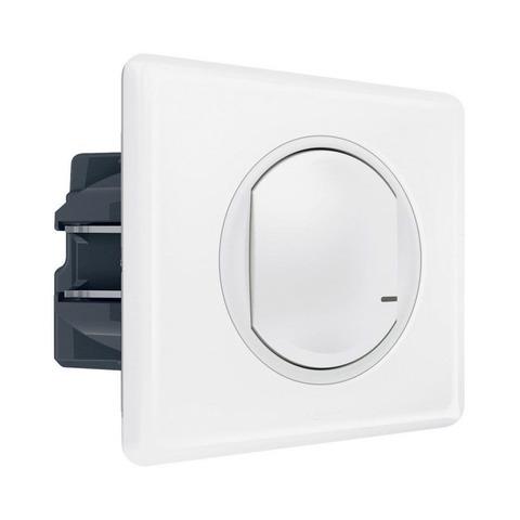 Выключатель с опцией светорегулирования 5-300 Вт 230В. Цвет Белый. Celiane NETATMO. 067721