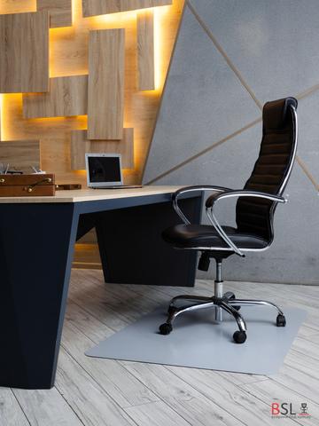 Защитный коврик под кресло 900x1200 мм серый