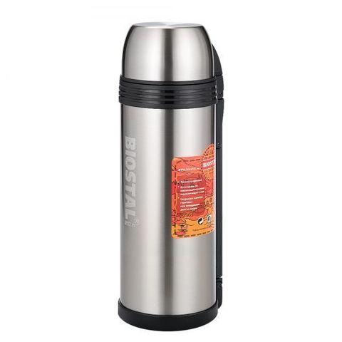 Термос универсальный (для еды и напитков) Biostal Спорт (2 литра) с ручкой, стальной