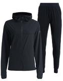 Женский беговой непромокаемый костюм Gri Джеди 2.0 черный