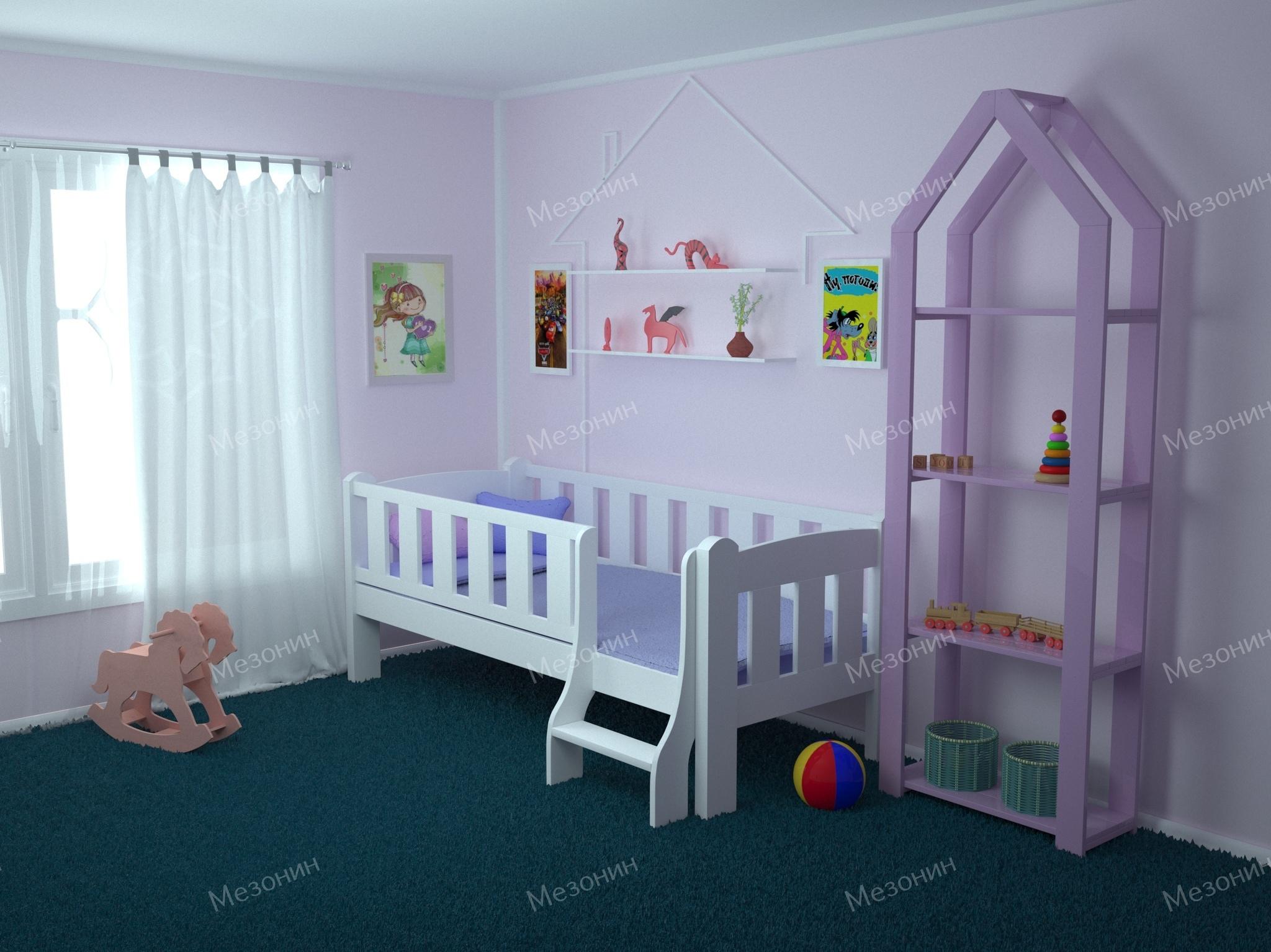 Детская кровать Сказка с лестницей