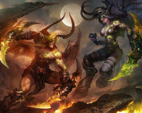 Картина по номерам на холсте Warcraft, 40см*50см